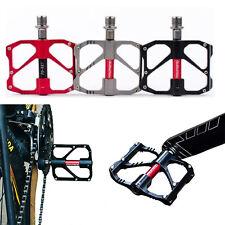 1Pair Black Aluminum Alloy Bicycle Bike Road Platform Pedals MTB Mountain Pedal