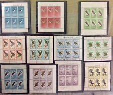 NEW ZEALAND - 11 miniature stamp sheets - BIRDS - 1959-66, MNH