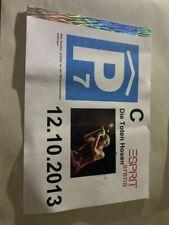 Die Toten Hosen  Parkschein - Esprit Arena 12.10.2013 original