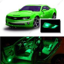 For Chevy Camaro 2010-2015 Green LED Interior Kit + Green License Light LED