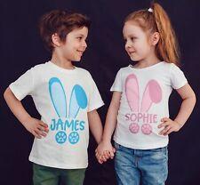 Easter T-shirt Bunny Rabbit Eggs Personalized Kids T Shirts Children Boys Girls