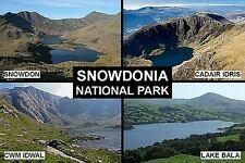 SOUVENIR FRIDGE MAGNET of SNOWDONIA NATIONAL PARK WALES