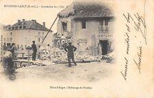 CPA 75 BOURBON LANCY INONDATION DU 7 JUIN PLACE D'ALIGRE DEBLAYAGE DU PAVILLON