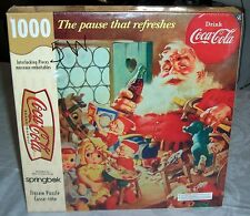 "NEW 1999 COCA COLA SPRINGBOK 1000 PIECES PUZZLE ""THE PAUSE THAT REFRESHES"" NIB"