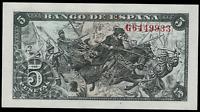Billete de España 5 pesetas 1945 Colon G 6449933 13 de febrero