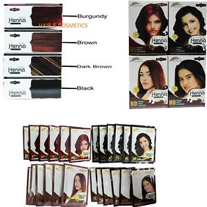 Herbal Henna Powder Hair Colour dye Ammonia Free Natural colours 60gm-UK Seller!