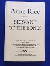 SERVANT OF THE BONES - UNCORRECTED PROOF BY ANNE RICE
