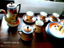 ANTIQUE ASIAN LUSTERWARE TEA SET art nouveau CHKARAMACHI EARLY NIPON EXCELLENT
