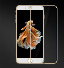 3D Full Cover Schutzglas AluTitan Rahmen tempered 9H für iPhone 6 6s 7 gold