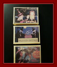 THREE VINTAGE POSTCARD GIFT BOXES FOR HALLOWEEN, OLD LOOKING WITCH BOXES