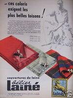 PUBLICITÉ 1957 COUVERTURES DE LAINE BELEIR LAINÉ - ADVERTISING