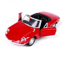 1/32 Bburago 1966 Alfa Romeo Spider Diecast Vehicle Alloy Red Car Model Toy