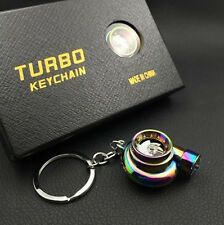 Rainbow Titanium Spinning Turbo Sound Key Chain with LED Light