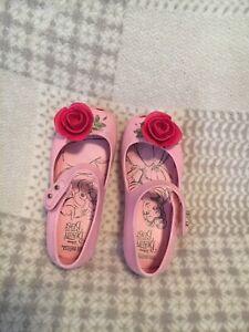 Toddler Girls Mini Melissa Disney Beauty and Beast Jelly Shoes Sz 9