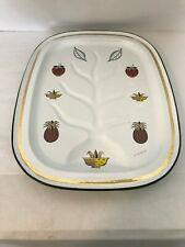 Vintage Mid-Century Georges Briard Enameled Metal Serving Drip Tray Pineapple