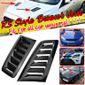 1Pair Universal Glossy Black Car RS Style Front Hood Bonnet Scoop Vent Air Panel