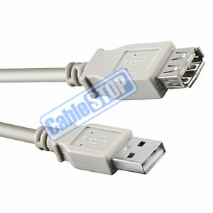 5 Metre GREY USB EXTENSION Male to Female PC Laptop Printer Computer Cable 5m
