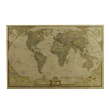 Retro Weltkarte Poster Riesen Landkarte Vintage Design Wandbild Deko 72x46cm