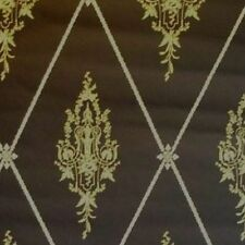 16sr Rich GOLD+CHOCOLATE Strahan late 1700s Federal Neoclassical Repro Wallpaper