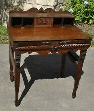 Astounding Late Early 1900's Texas Folk Art Desk Furniture Tramp Art