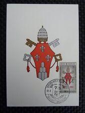 Belgio MK 1966 STEMMA PAPA POPE PAUL maximum carta carte MAXIMUM CARD MC a8840
