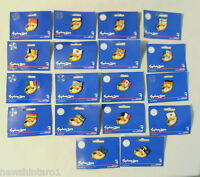 #T70. SET OF 18  SYDNEY 2000 OLYMPIC FLAG  PINS ON ORIGINAL CARDS