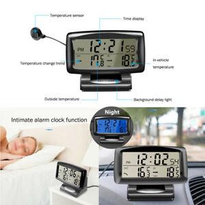 Electronic Internal External Dual Temperature Car Thermometer House Alarm Clock