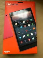 New Amazon Kindle Fire HD 10 Tablet Full 1080p Display 32 GB 2017 Release - Red