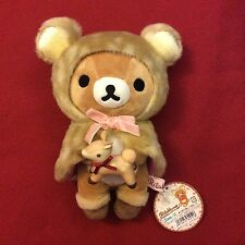 *sale!* Ultra Rare HAPPY NATURAL TIME Rilakkuma Plush holding Deer. Collector
