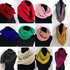 US SELLER-bulk wholesale 10pc knit infinity scarf, circle loop long shawl wrap