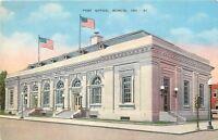 Muncie Indiana~Post Office 1930's Linen Postcard