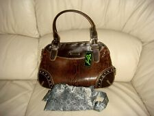 NWT Sharif Studio Snake Embossed Leather Expanding Purse  with dust bag.