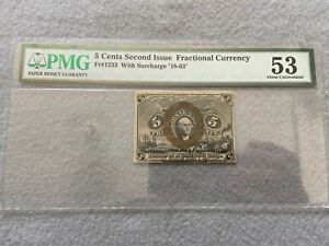 5 Cents Fractional Currency PMG Certified