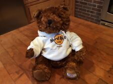 "Hard Rock Cafe Paris 9"" CLASSIC Teddy Bear w/ Hoodie Plush Stuffed Animal New"