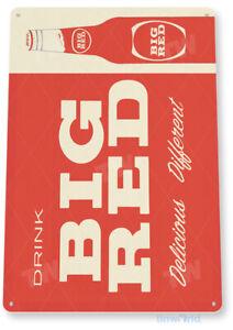 Big Red Vintage Retro Soda Tin Sign D169