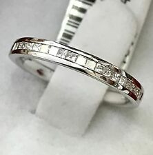 14k Solid white gold diamond band ring. 0.33 ct VS quality  size 5 comfort fit