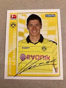 Robert Lewandowski 2010/2011 Rookie Sticker Topps Dortmund #43