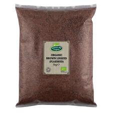 Organic Brown Linseed (Flaxseed) 1kg Certified Organic