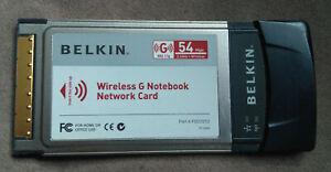 Belkin Wireless G Notebook Network Card FSD7010
