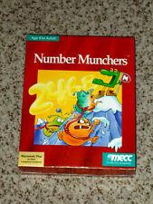 SEALED Vintage Number Munchers Game Macintosh Plus 1 MB MECC 1990 3.5 Disk Mac