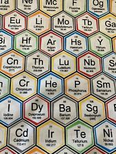 Periodic Table ELEMENTS Chemistry SCIENCE 100% Cotton Fabric by the Half Yard