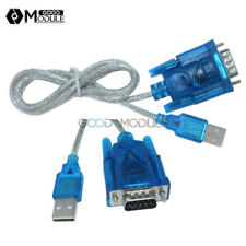USB to RS232 Serial Port 9 Pin DB9 Adapter Cable Serial COM Port Convertor Blue
