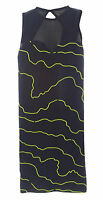 TOPSHOP Women's Black/Green Printed Sleeveless Stretch Dress Size XS NEW