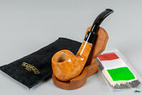 New Handmade Savinelli Otello Smooth Bent (645 KS) 9mm