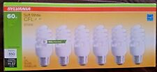 Sylvania Bulbs CFL 60 Watts USES 13 Watts 6 Pack  Soft White 2700K