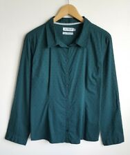 SEASALT LADIES CARRICKOWEL GREEN COTTON SHIRT / BLOUSE SIZE 16