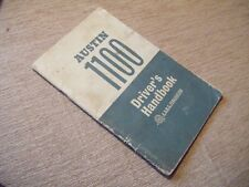 Austin 1100 Driver's Handbook  Published 1964 by The British Motor Corp Ltd