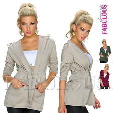Stylish European Women's Jacket Hoodie Short Coat Outerwear Size 8 10 12 S M L