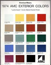 AMC Exterior Colours 1974 USA Market Brochure Gremlin Hornet Javelin Matador