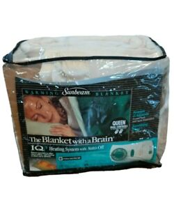Sunbeam IQ3 Warming Blanket -  Dual Controllers - New In Package - Queen Size